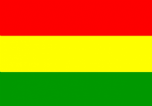 BOLIVIA - HAND WAVING FLAG (MEDIUM)